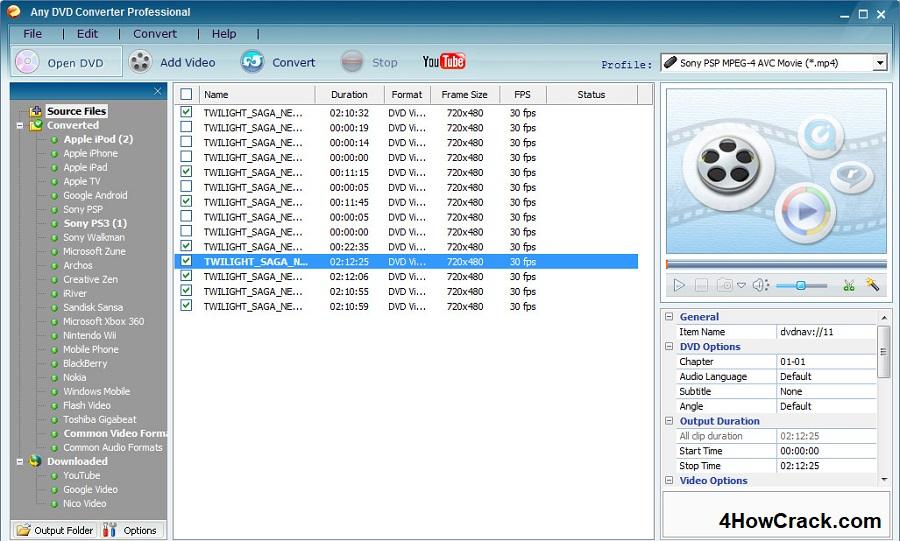 any video converter professional license key crack